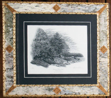 "Framed print by Thomas R. Anderson - ""Boundary Waters Camp""."
